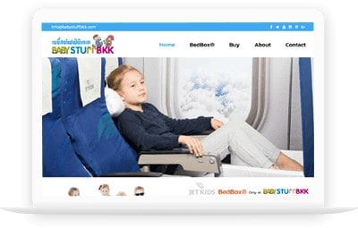ออกแบบเว็บไซต์บริษัทผลิตของใช้เด็ก