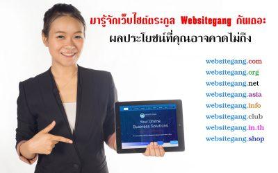 มารู้จักเว็บไซต์ตระกูล Websitegang กันเถอะ